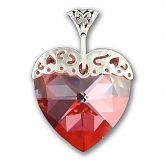 Swarovski Crystal Magma Large Heart