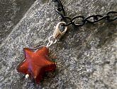 Rubino Red Murano Glass Star Clip On Bracelet Charm