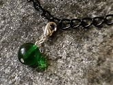 Green Glass Bracelet Charm