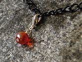 Iridescent Orange Glass Bracelet Charm